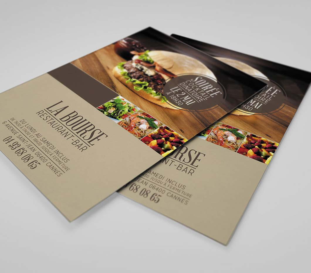 Impression Flyers pas cher ouverture Bars Restaurants Evenement PACA 06